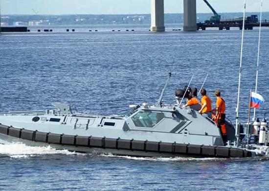 Em Kronstadt, o mais novo barco de assalto estava envolvido no exercício