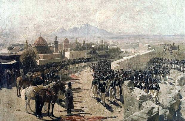 Russians return Yerevan to Armenians