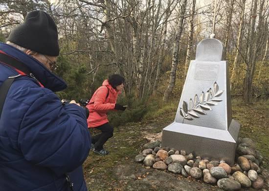 На острове Гогланд установлена Памятная стела в честь первого в мире сеанса практической радиосвязи