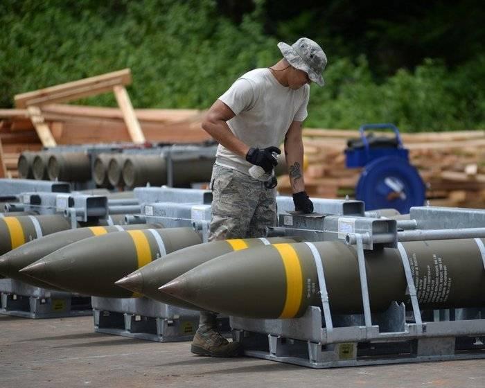 グアムの米軍基地は大量の弾薬を受け取りました