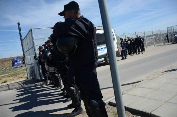 Bulgarische Grenzschutzbeamte aus dem Schutz der bulgarisch-türkischen Grenze entfernt