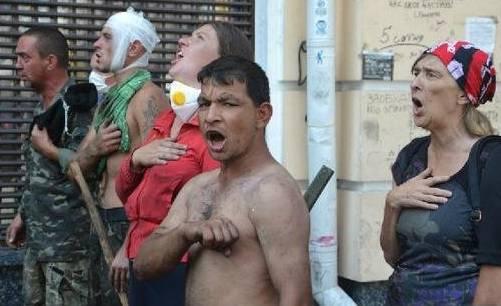 Радикалы вКиеве разгромили зал суда