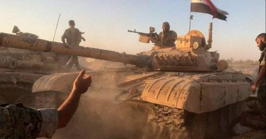 In Deir ez-Zor, the Syrian army deployed the T-72, modernized by the Italians