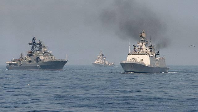 La parte marítima del ejercicio Indra-2017 comenzó en Primorye