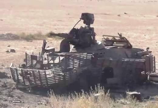 """Terroristas conseguiram destruir um """"super BRDM"""" do exército sírio"""