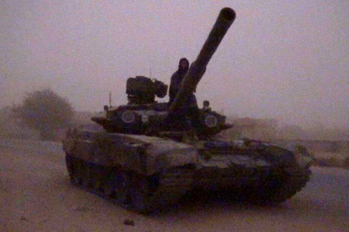 In Syria, terrorists seized the tank T-90