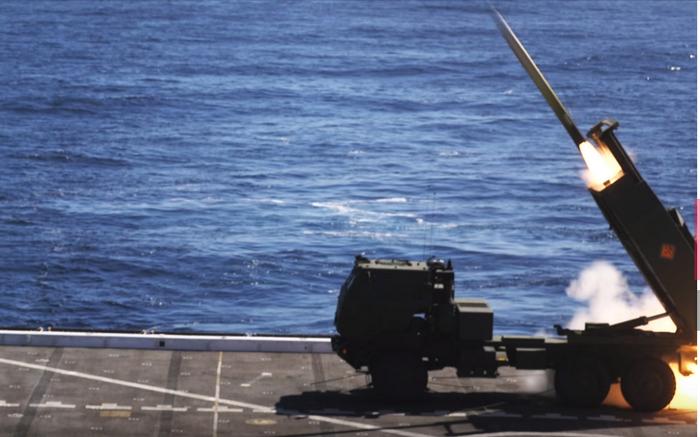 ABD denizciler gemiden füze kompleksi HIMARS test etti