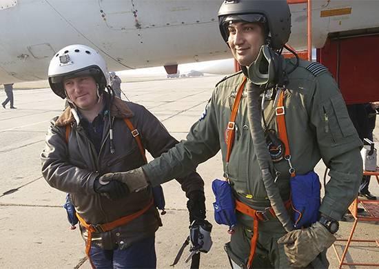 All'esercizio Indra-2017, i voli degli equipaggi internazionali vengono effettuati per la prima volta