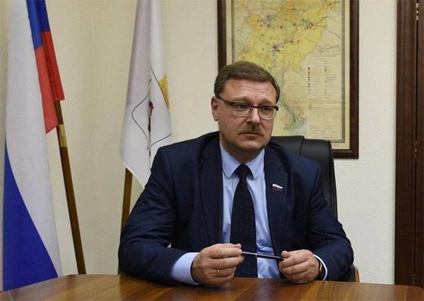 科萨切夫:新的美国制裁将有助于发展和防御