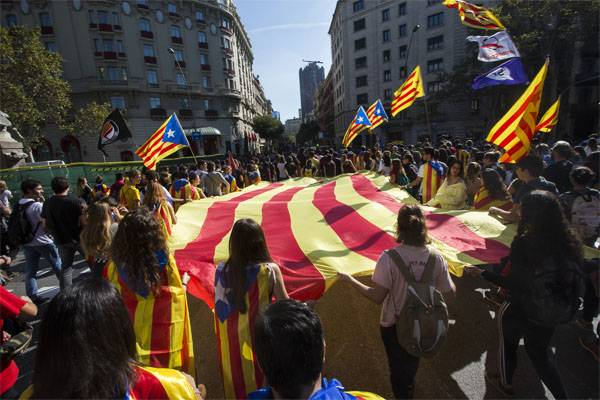 Parliament in Barcelona declared independence for Catalonia