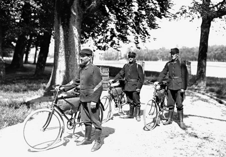 Разведывательный велосипедный разъезд швейцарской армии. Первая мировая война