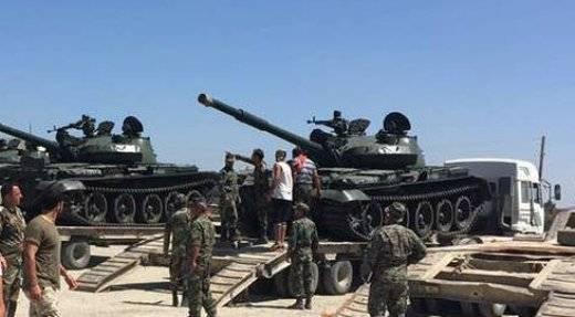 시리아 자원 봉사단은 T-62M과 BMP-1 형태로 증원을 받았다.