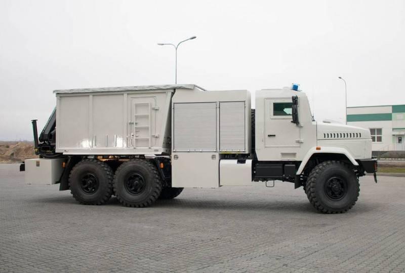AvtoKrAZ presented a heavy-duty pyrotechnic machine
