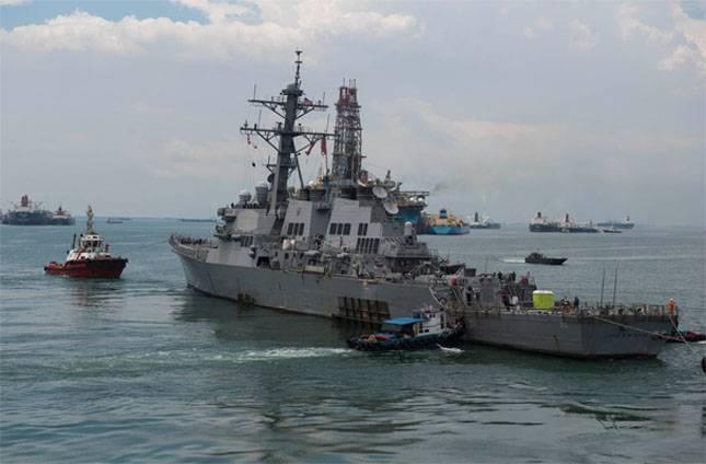 미 해군은 미국 구축함과 함께 사건에 대한 보고서를 발표했다.