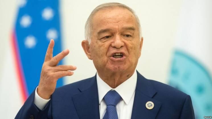 Karimov en el centro de Moscú y Rusia en Uzbekistán