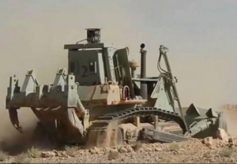 シリアでは、抗ATGM保護の装甲車両を発見