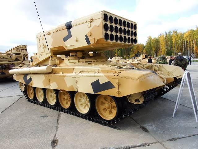 """Por primera vez: versiones desconocidas del lanzallamas """"Sun"""" basadas en el T-80"""