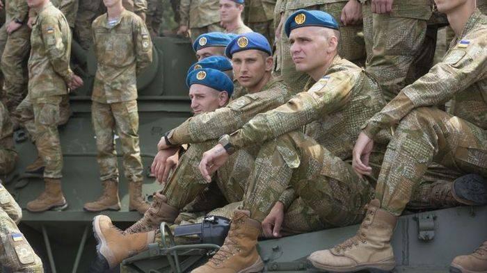 Paraquedistas ucranianos contra a troca de boinas