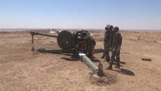 Soviet D-30 guns continue to serve the Syrian army regularly