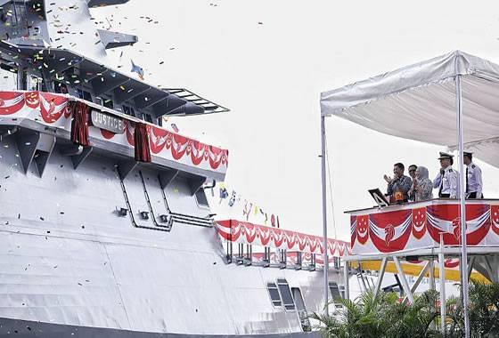 La Armada de Singapur recibió otra nave de patrulla LMV.