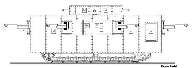 El proyecto es un tanque súper pesado 200 ton Trench Destroyer (EE. UU.)