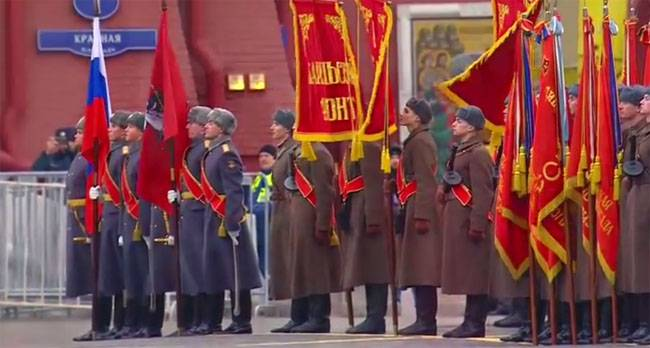 On the Day of Military Glory of Russia, a solemn march took place on Red Square