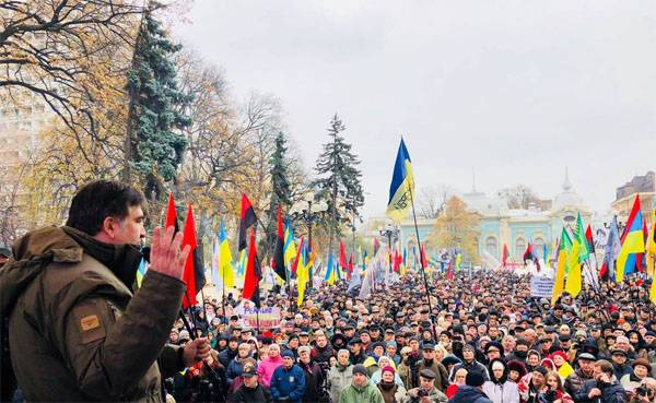 Misha is a revolutionary. At the walls of the IU building a new rally of Saakashvili