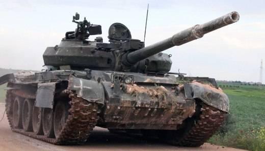 시리아 군대, 테러 분자들에 의해 격퇴 된 T-62