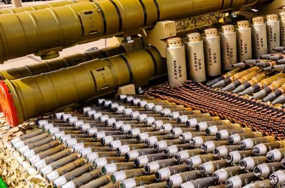Mais de um milhão de munição após reparos voltaram aos arsenais russos