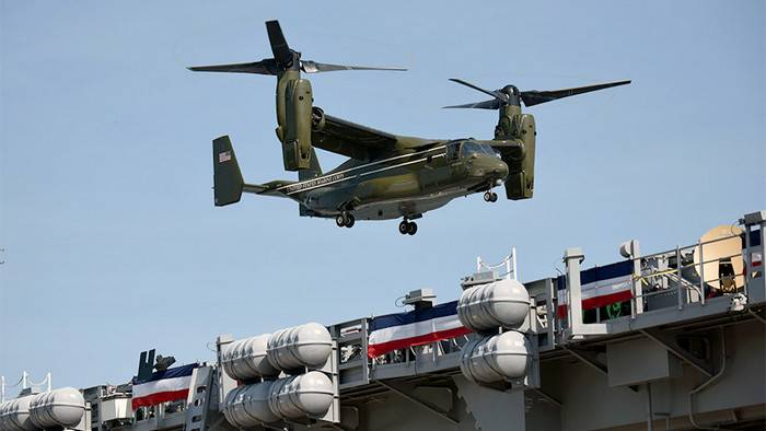 Japan demands from the USA to increase the safety of Osprey convertoplanes