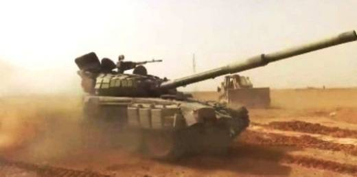 In the area of ​​the Syrian Abu Kemal seen rocket-gun T-72B