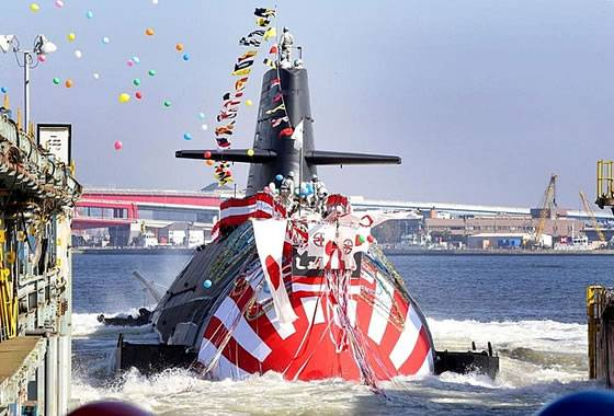 In Japan, the tenth litter-class submarine was launched