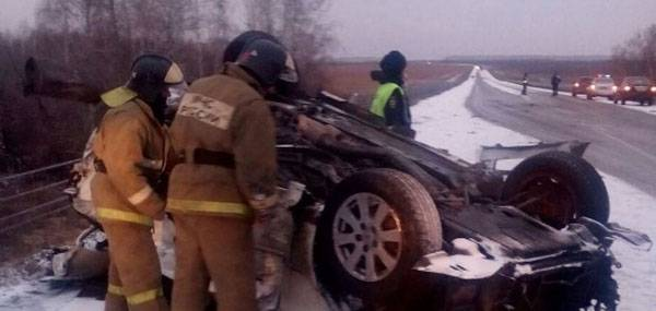 In Altai in an accident killed four soldiers returning from Syria