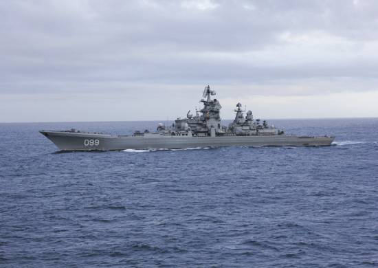 "The cruiser ""Peter the Great"" is fighting for the status of ""shock"""