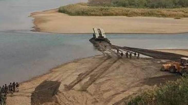 L'esercito siriano per primo ha usato un ponte di carri armati