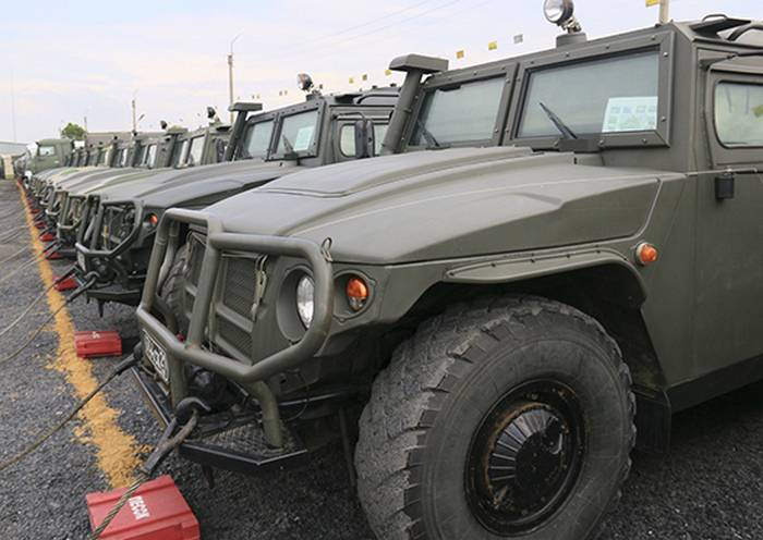 """The Ministry of Defense ahead of schedule received a batch of armored cars """"Tiger"""""""