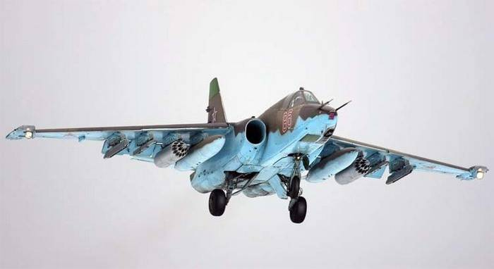 Su-25CM equip with protection against missiles