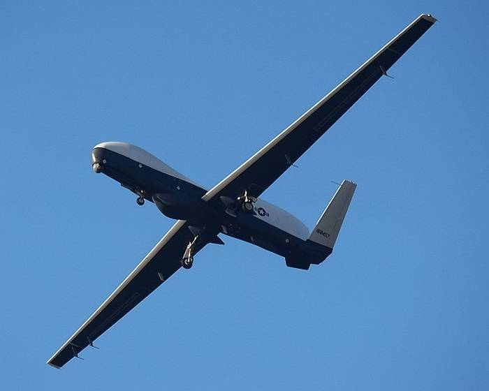 The US Navy received the first serial UAV MQ-4C Triton