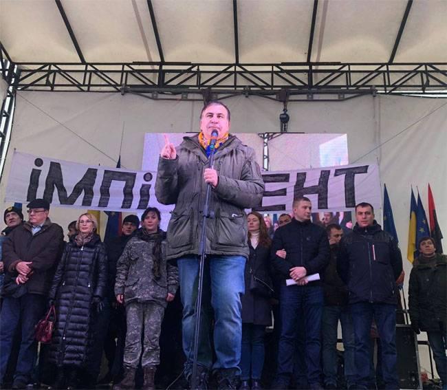 Saakashvili, Poroshenko'nun giyotinine söz verdi