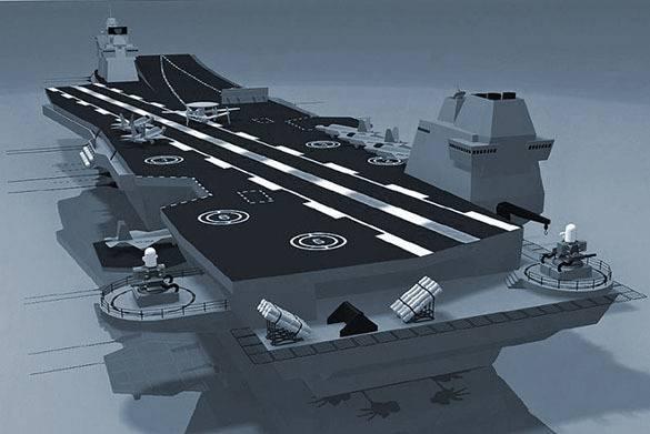 रूस एक हल्के विमानवाहक पोत का विकास कर रहा है