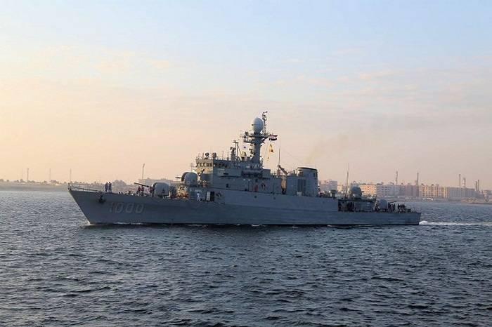 Egito apresentou corveta coreana desmantelada