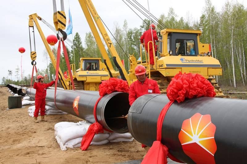 中国完成了第二条俄罗斯原料供应管道的建设