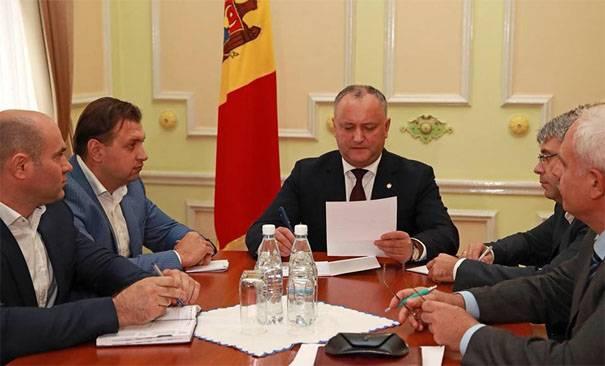 Dodon: Transnistria tem duas maneiras - para permanecer na Moldávia ou para se tornar parte da Ucrânia
