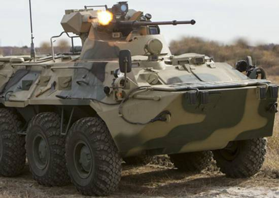 In the Pacific Fleet, the new BTR-82A is being tested in operation.