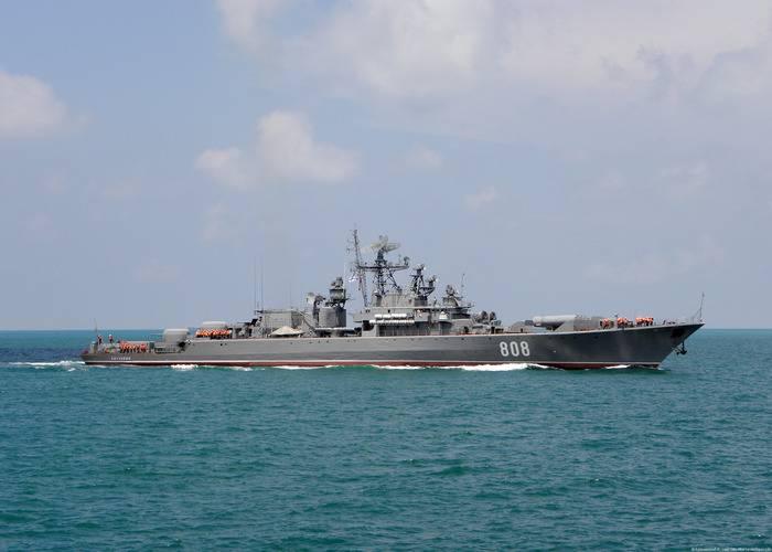 O navio-patrulha Pytlivy completa missões no Mediterrâneo
