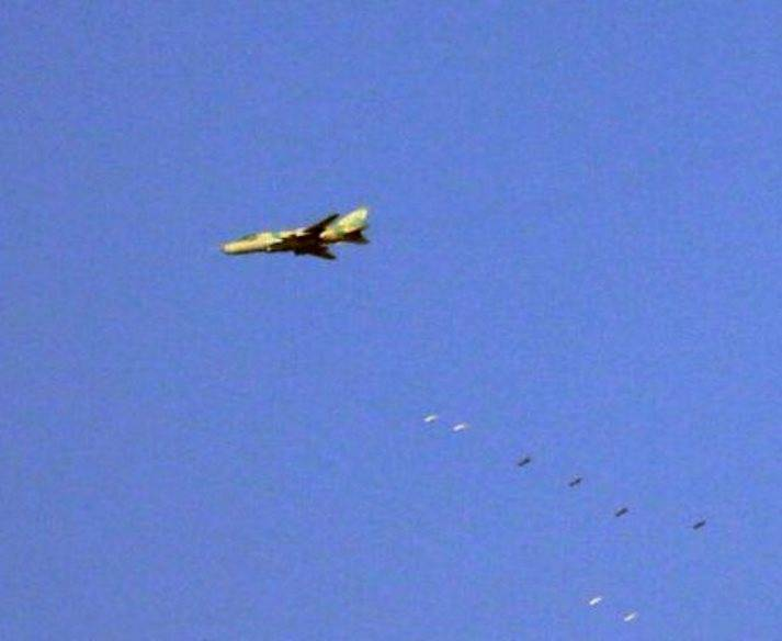 Aircraft Su-22 in Syria