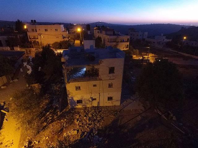 Las FDI mostraron la destrucción del apartamento, anteriormente propiedad de un terrorista