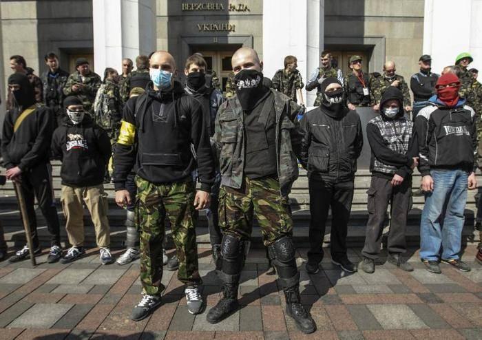 Radikalleri С14, Ukrayna Güvenlik Hizmeti ile işbirliğini kabul etti