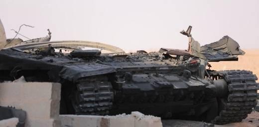 시리아에서는 T-90 파괴 된 사진을 치고