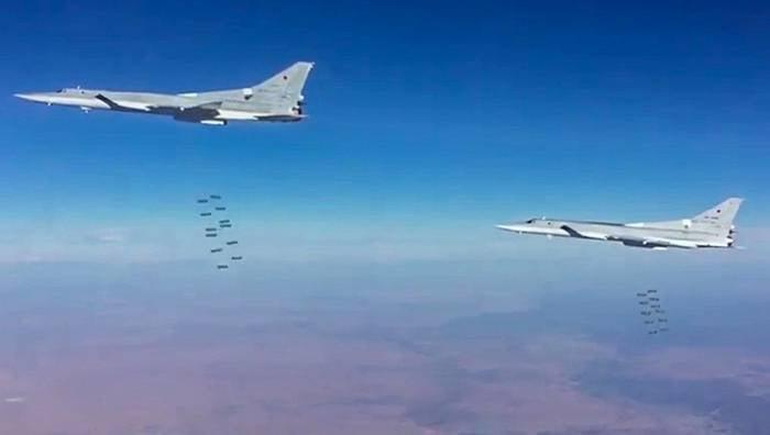 Rusya Federasyonu'nun uzun menzilli havacılığı, Abu-Kamal bölgesindeki IG * tesisleri için bir hava saldırısı düzenledi